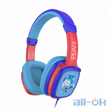 Наушники с микрофоном ELARI FixiTone kids headphones Blue-Red (FT-1BLU)