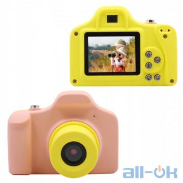 Детская цифровая фото-видео камера Kronos Toys UL-1201 1080P 5MP Pink