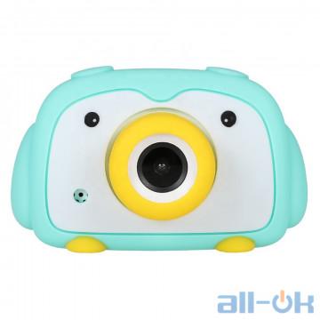 "Детская цифровая фото-видео камера DUO Camera 2"" LCD UL-2033 1080P, 12MP Blue"