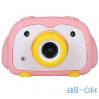"Дитяча цифрова фото-відео камера DUO Camera 2 ""LCD UL-2033 1080P, 12MP Pink"