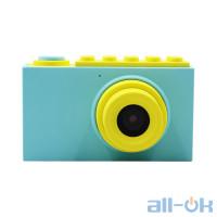 """Дитяча цифрова фото-відео камера waterproof case 2 """"LCD UL-2018 1080P, 8MP Blue"""