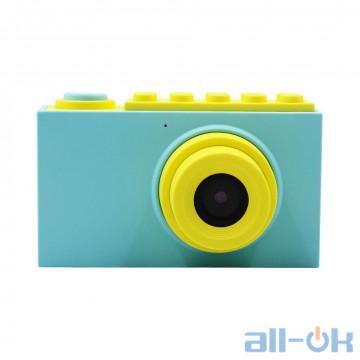 "Детская цифровая фото-видео камера waterproof case 2"" LCD UL-2018 1080P, 8MP Blue"