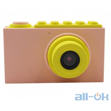 "Детская цифровая фото-видео камера waterproof case 2"" LCD UL-2018 1080P, 8MP Pink"