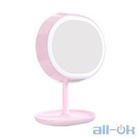 Зеркало JOYROOM Multi-functional LED Beauty Series Smart Light Makeup Mirror Lamp JR-CY266 Pink
