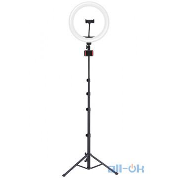 """Держатель с кольцевым освещением JOYROOM Fill light live holder JR-ZS228 AKL03 12"""", 2A, 2700-5700K Black"""