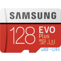 Карта пам'яті Samsung 128 GB microSDXC Class 10 UHS-I U3 EVO Plus 2020 + SD Adapter MB-MC128HA