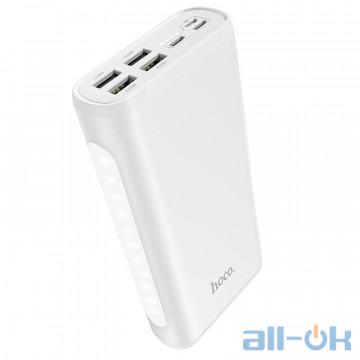 Внешний аккумулятор (Power Bank) HOCO Snowflake table lamp mobile J60 30000mAh White