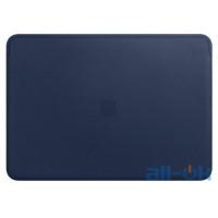 "Чехол-обложка для ноутбука Apple Leather Sleeve for 15"" MacBook Pro – Midnight Blue (MRQU2)"
