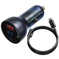 Автомобильное зарядное устройство Baseus Type-C/Type-C Cable Particular Digital Display QC Plus PPS Dual Quick Charger Car Charger 65W (VCKX65C)