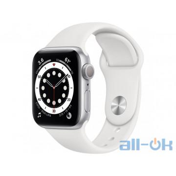 Смарт-часы Apple Watch Series 6 GPS 40mm Silver Aluminum Case w. White Sport B. (MG283)