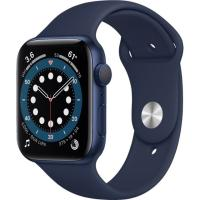 Смарт-часы Apple Watch Series 6 GPS 44mm Blue Aluminum Case w. Deep Navy Sport B. (M00J3)
