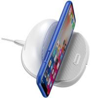 Беспроводное зарядное устройство Baseus Silicone Horizontal Desktop Wireless Charger White (WXHSG-02)