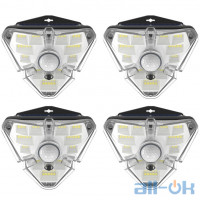 Лампа зовнішня індукційна BASEUS Solar Energy Collection Human Body Induction Wall Lamp (Triangle Shape) 4 (IPX5, 1200mAH) (DGNEN-B01)