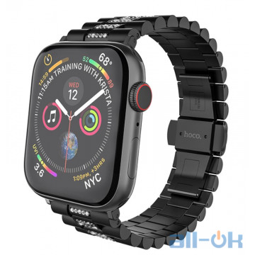 Ремешок для  Apple Watch 1/2/3/4 HOCO Shining Steel Watch Strap WB08 |38/40mm| black