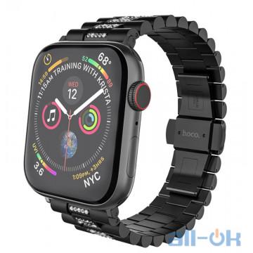Ремешок для  Apple Watch 5 HOCO Shining Steel Watch Strap WB08 |42/44mm|black