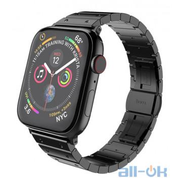 Ремешок для  Apple Watch 1/2/3/4 HOCO Precious Steel Strap WB07 |38/40mm| black