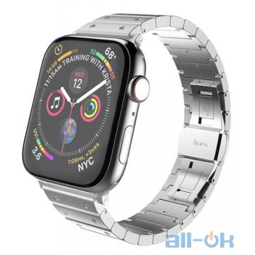 Ремешок для  Apple Watch 1/2/3/4 HOCO Precious Steel Strap WB07 |38/40mm| silver