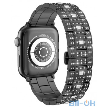 Ремешок для  Apple Watch Series 1/2/3/4 HOCO Starlight Steel Strap WB13 |38/40mm| black