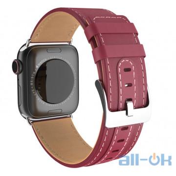 Ремешок для  Apple Watch Series 4 HOCO Duke series WB04 |40mm| wine red