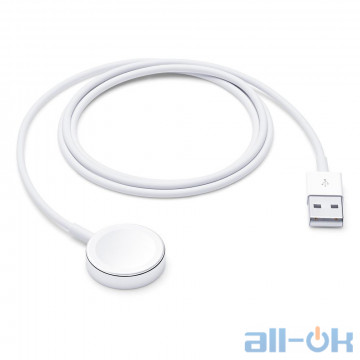 Беспроводное зарядное устройство Apple Watch Magnetic Charging Cable (1 m) (MKLG2, MU9G2)