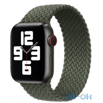 Ремешок Apple Braided Solo Loop Inverness Green для Apple Watch 40mm SE/6/5/4 (MY6Q2) Размер 6