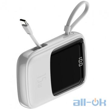 Внешний аккумулятор (Power Bank) Baseus Qpow Digital Display 3A Power Bank 10000mAh (White)