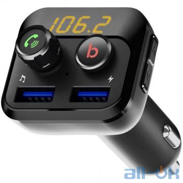 FM-трансмиттер Grand-X 98GRX MegaBass, Bluetooth V5.0, Hands Free, MicroSD, 2USB 1A Plus 2,4A UA UCRF