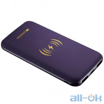 Внешний аккумулятор (Power Bank) Canyon Whireless 8000 mAh Purple (CNS-TPBW8P) UA UCRF