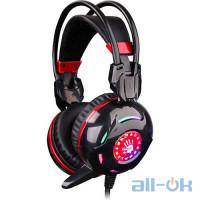 Комп'ютерна гарнітура A4TechBloody G300 Black/Red UA UCRF