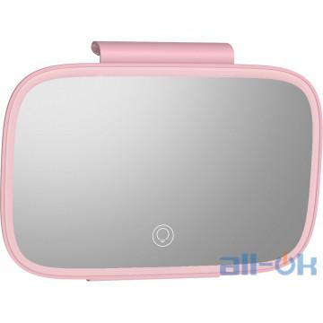 Зеркало с подсветкой LED Baseus Delicate Queen Car Touch-up Mirror Pink (CRBZJ01-04)
