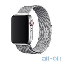 Ремешок Apple Milanese Loop Band Silver MTU62 для Apple Watch 44mm
