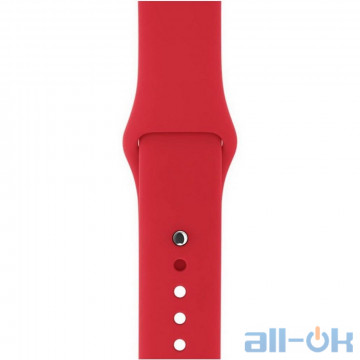 Ремешок Apple PRODUCT Red Sport Band для Watch 38mm/40mm MLD82