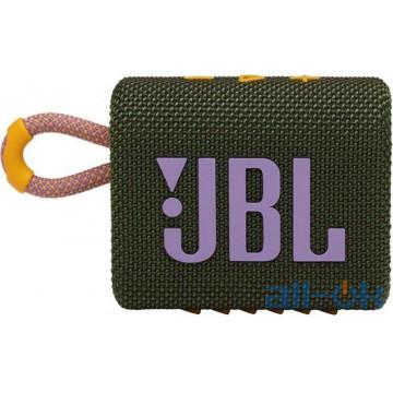 Портативные колонки JBL Go 3 Green (JBLGO3GRN)