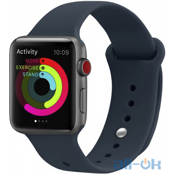 Ремешок UWatch Silicone Strap для Apple Watch 38/40 mm Midnight Blue