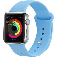 Ремешок UWatch Silicone Strap для Apple Watch 38/40 mm Blue