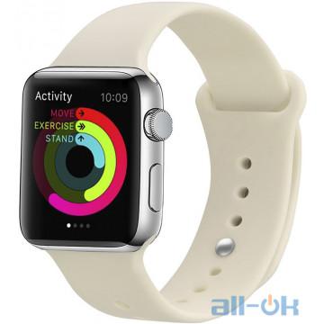 Ремешок UWatch Silicone Strap для Apple Watch 38/40 mm Antique White