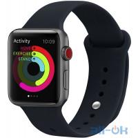 Ремешок UWatch Silicone Strap для Apple Watch 38/40 mm Blue Cobalt