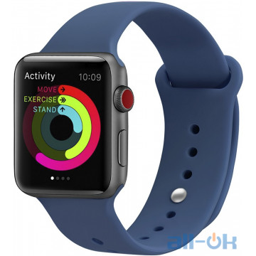 Ремешок UWatch Silicone Strap для Apple Watch 38/40 mm Ocean Blue