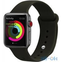 Ремінець UWatch Silicone Strap для Apple Watch 38/40 mm Dark Olive