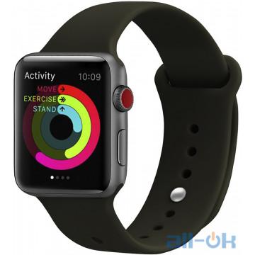 Ремешок UWatch Silicone Strap для Apple Watch 38/40 mm Dark Olive
