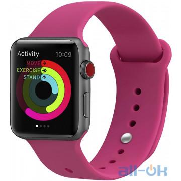 Ремешок UWatch Silicone Strap для Apple Watch 38/40 mm Bobbi Powder