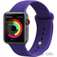 Ремінець UWatch Silicone Strap для Apple Watch 38/40 mm Deep Purple
