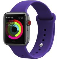 Ремешок UWatch Silicone Strap для Apple Watch 38/40 mm Deep Purple