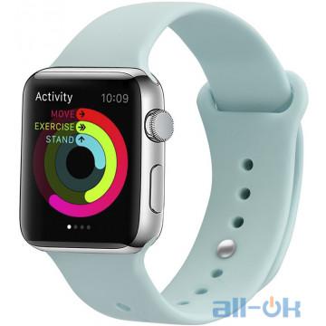 Ремешок UWatch Silicone Strap для Apple Watch 38/40 mm Turquoise