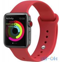 Ремешок UWatch Silicone Strap для Apple Watch 38/40 mm  Red