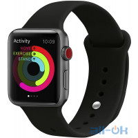 Ремінець UWatch Silicone Strap для Apple Watch 38/40 mm Black
