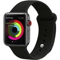 Ремешок UWatch Silicone Strap для Apple Watch 38/40 mm  Black