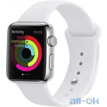 Ремешок UWatch Silicone Strap для Apple Watch 38/40 mm White