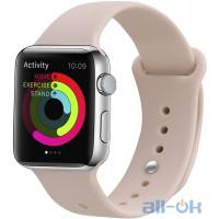 Ремінець UWatch Silicone Strap для Apple Watch 38/40 mm  Pink Sand