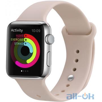 Ремешок UWatch Silicone Strap для Apple Watch 38/40 mm  Pink Sand